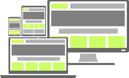 responsive web design: vector - responsive web design