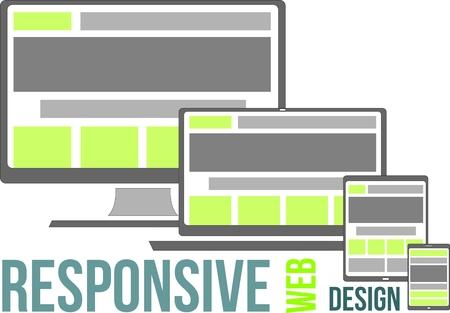 responsive web design  イラスト・ベクター素材