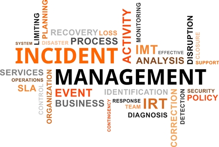 A word cloud of incident management related items Stock Vector - 23042122