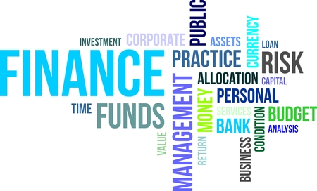 allocation: A word cloud of finance related items