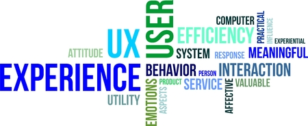 meaningful: A word cloud of user experience related items