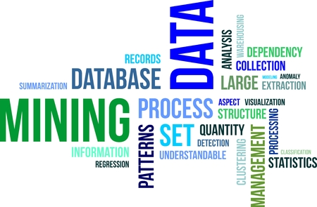 A word cloud of data mining related items Vector