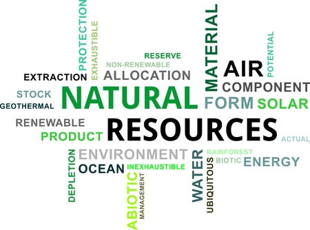 ressources naturelles: Un nuage de mots des ressources naturelles Articles li�s Illustration