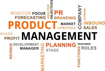 製品管理の単語雲の関連商品