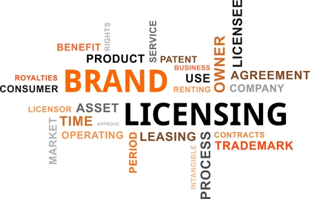 A word cloud of brand licensing related items Stock Vector - 24889826