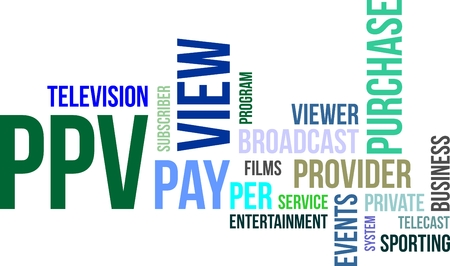 telecast: A word cloud of pay per view related items