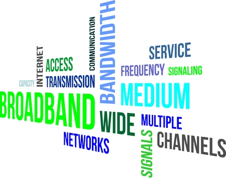 capacity: A word cloud of broadband related items
