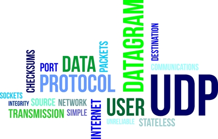 A word cloud of user datagram protocol related items