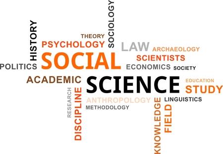 sociología: Una nube de palabras de los elementos relacionados con la ciencia sociales