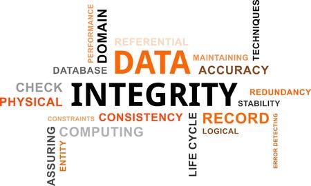 integridad: Una nube de palabras de artículos relacionados integridad de los datos
