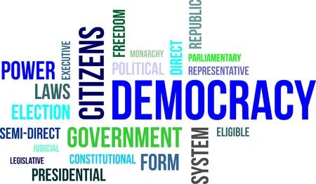 eligible: Una nube de palabras de los elementos relacionados con la democracia