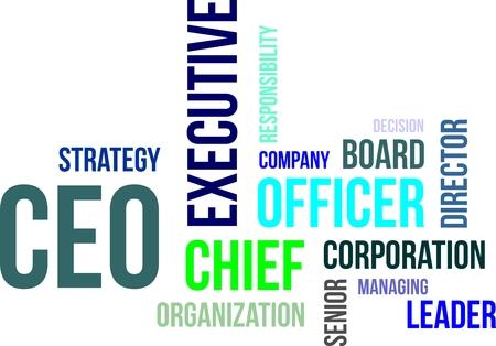 Eine Wortwolke des Chief Executive Officer verwandte Artikel