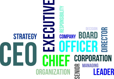 A word cloud of chief executive officer related items Vectores