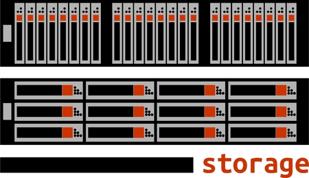 An illustration showing storage area network Vectores