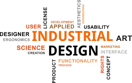 ergonomics: A word cloud of industrial design related items
