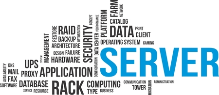 operating system: A word cloud of server related items