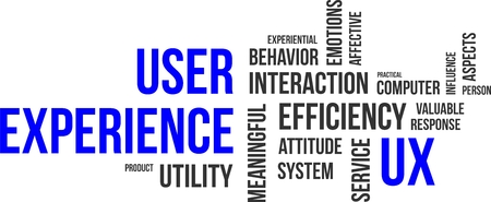 A word cloud of user experience related items