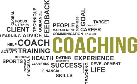 Een woord wolk van coaching gerelateerde items Stockfoto - 34448485