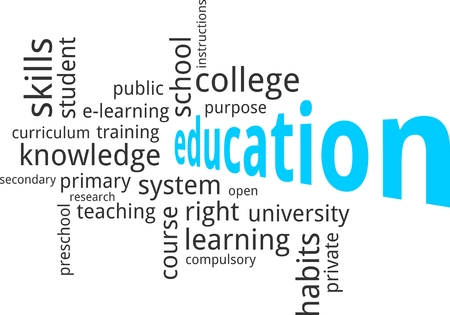 compulsory: A word cloud of education related items Illustration