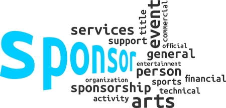 sponsor: A word cloud of sponsor related items