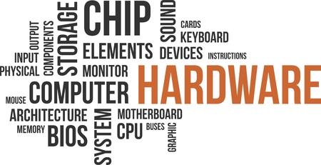 word processors: A word cloud of hardware related items