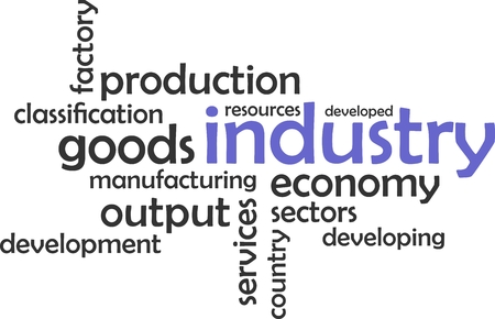 tertiary: A word cloud of industry related items