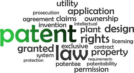 patente: Una nube de palabras de art�culos de patentes relacionadas