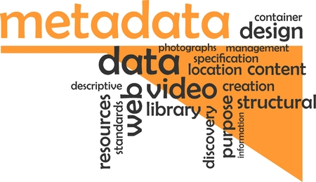 metadata: A word cloud of metadata related items