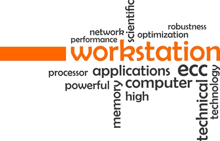 workstation: A word cloud of workstation related items