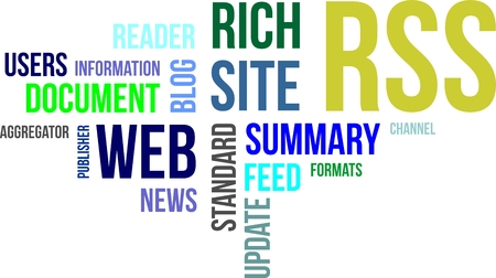 aggregator: A word cloud of rss related items