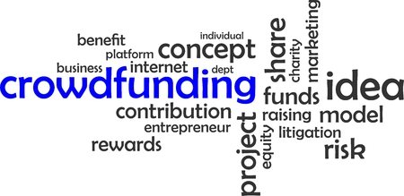 dept: A word cloud of crowdfunding related items