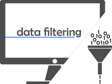 filter: An illustration showing a funnel as a data filter