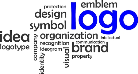 ideogram: A word cloud of logo related items