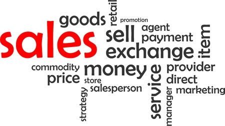 direct sale: A word cloud of sales related items