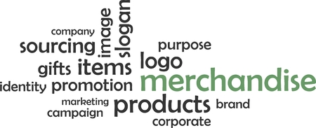 intentions: A word cloud of merchandise related items