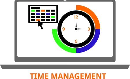 scheduling system: An illustration showing a time management concept