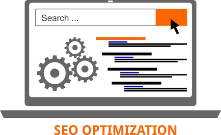 An illustration showing a seo optimization concept