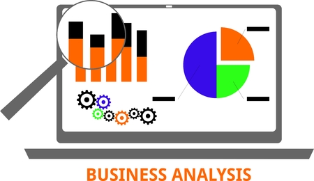 identifying: An illustration showing a business analysis concept