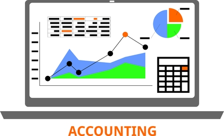 An illustration showing an accounting concept