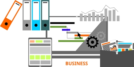 file folder: An illustration showing a business concept