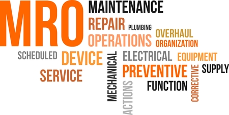 A word lcoud of maintenance, repair and operations related items