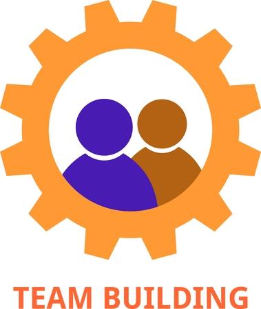 team building: An illustration showing a team building concept Illustration