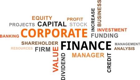 dividend: A word cloud of corporate finance related items