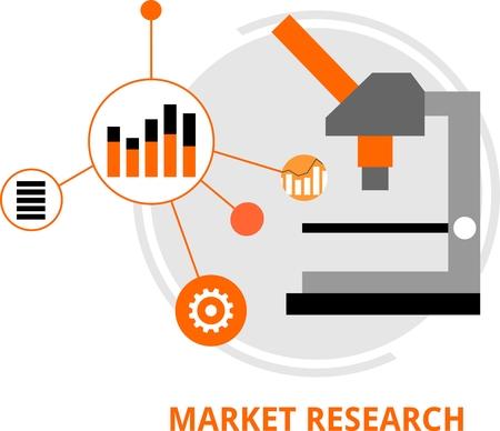 marktforschung: An illustration showing a market research concept