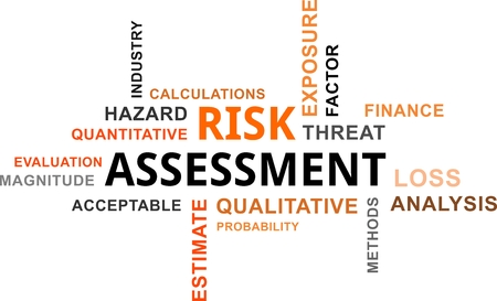 quantitative: A word cloud of risk assessment related items