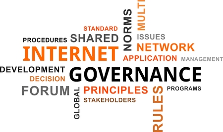 governance: A word cloud of internet governance related items