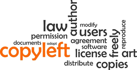 distribute: A word cloud of copyleft related items