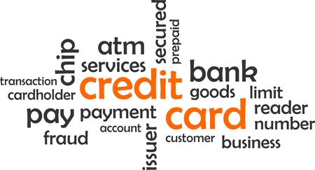 cardholder: A word cloud of credit card related items Illustration