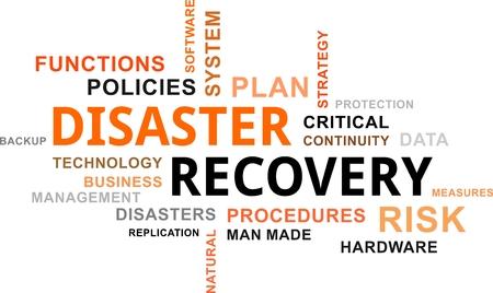 empleos: Una nube de palabras de objetos relacionados con la recuperación de desastres