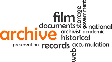 accumulation: A word cloud of archive related items